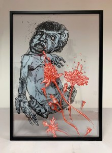 06. Conflict ink and offset color on plexiglass 50x70cm 2018
