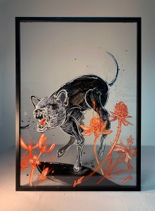 07. Animal ink and acrylic on plexiglass 50x70cm 2018