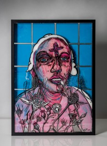 17. Andrea ink and acrylic on plexiglass 50x70cm 2020
