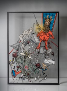 20. Opression I ink and acrylic on plexiglass 70x100cm 2020