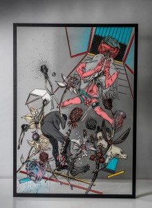 21. Opression II ink and acrylic on plexiglass 70x100cm 2020