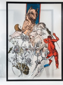 22. Coping ink and acrylic on plexiglass 70x100cm 2019